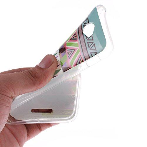 Sony Xperia M2 Funda,Ligero a Prueba de Choques Flexible Ultra Fino Suave TPU Parachoque Carcasa MAGQI Tecnología IMD Diseño Impreso Vendimia Serie Patrón [Absorción de Impacto] Resistente a los Araña Patrón Nacional