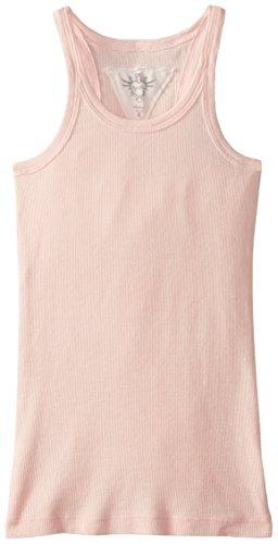 T2Love Big Girls' Solid Tank Top, Blush, 10