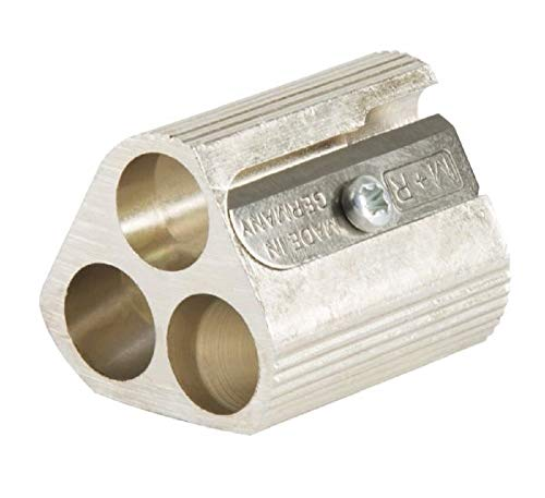 - Alvin 9833 Magnesium Triple-Hole Sharpeners, Unique Precision-engineered Design Provides a Choice of Exposed Lead Length for Maximum Drawing Accuracy and Control