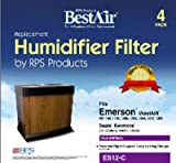 RPS BestAir ES12-C 4 Pack Extended Life Humidifier Wick Filter - Quantity 3