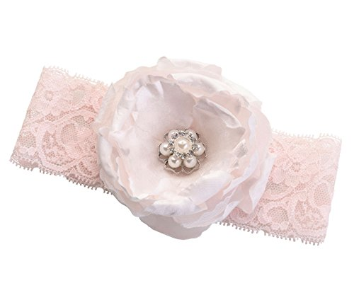 Lillian Rose Vintage Blush Chic Pink Flower Prom Wedding Garter