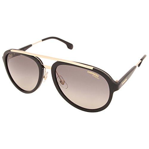 Carrera Men's Ca132s Aviator Sunglasses, Black Gold/Gray Brown, 57 ()