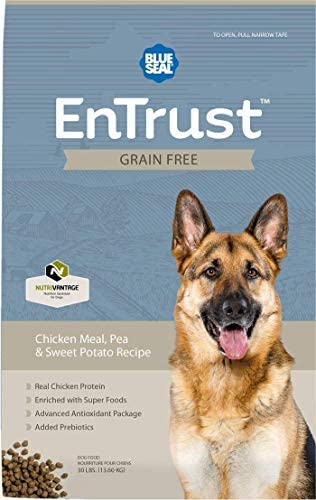 Blue Seal EnTrust Grain Free Chicken Meal, Pea Sweet Potato