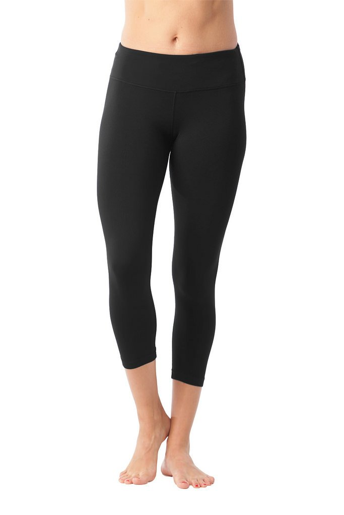 90 Degree By Reflex Yoga Capris - Yoga Capris for Women - Hidden Pocket - Black and Heather Charcoal 2 Pack - XS by 90 Degree By Reflex (Image #2)
