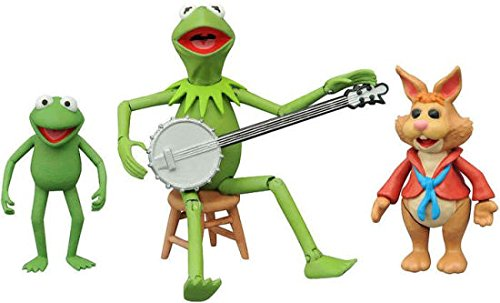 Kermit The Frog Muppets (Diamond Select Toys The Muppets: Kermit, Bean & Robin Series 1 Action Figure Set)