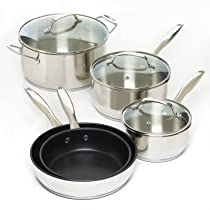 Smart Living Company 10017410 8 Pc. Stainless Steel Cookware Set