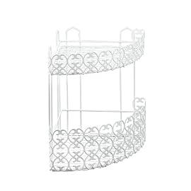 qwert Mensola da Cucina per Bagno Mensola Nera con portasciugamani Spazio in Alluminio Mensole angolari Porta Asciugamani con Gancio Porta Shampoo 23 cm