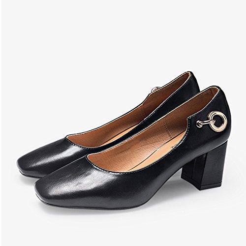 JIANXIN Frauen Frühling Und Sommer Sommer Sommer Vintage Und Flache Schuhe Bequeme Arbeitsschuhe Und Damenschuhe. (Farbe   SCHWARZ größe   EU 37 US 6 UK 4 JP 24cm) 861d28