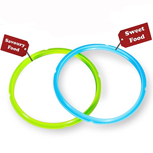 - Silicone Sealing Ring - Seal Lasting & BPA-free - Fits IP-DUO60, IP-LUX60, IP-DUO50, IP-LUX50, Smart-60, IP-CSG60 and IP-CSG50 - Pack of 2 Blue & Green - By Super Kitchen