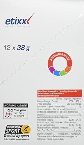 Etixx Nutritional Energy Gel, Sabor a Cola - 12 Unidades ...