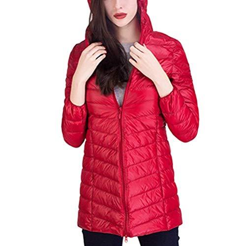Colori Outerwear Qualità Mode Invernali Piumini Donna Giacca Solidi Alta Tasche Manica Con Calda Cappuccio Bolawoo Laterali Rosso Marca Di Lunga Giaccone Cerniera wRBZCqwT