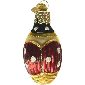 OLD WORLD CHRISTMAS LUCKY LADYBUG LADY BUG GLASS CHRISTMAS ORNAMENT 12032
