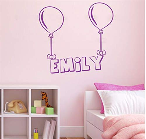 Hueoi Vinyl Wall Art Inspirational Quotes and Saying Home Decor Decal Sticker Customized Name Balloons Living Room Kids Nursery Room Decor Decor -