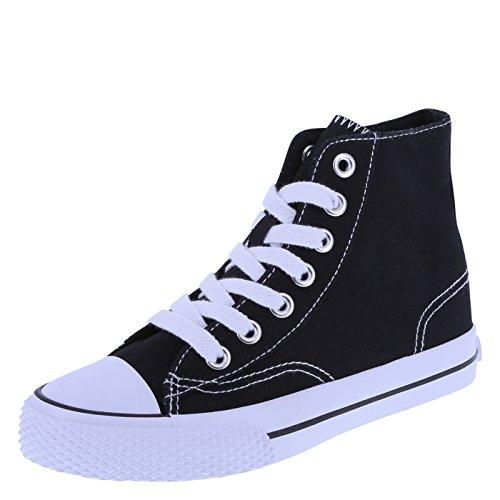 Airwalk Kids' Black White Kids' Legacee Sneaker High-Top 3.5 Regular (Youth Black Footwear)
