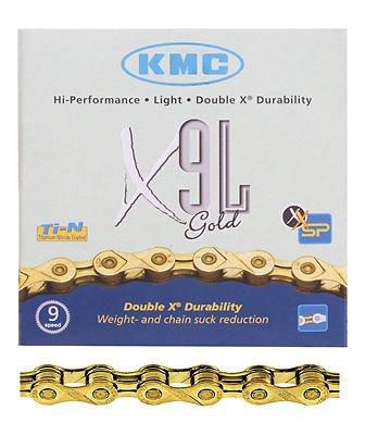 KMC x9l 9スピードロードバイク自転車チェーンゴールド116リンク B076NNK3W8