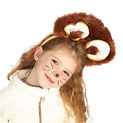 Kids Cowardly Lion Accessory Kit - Wizard of Oz Halloween Lion Costume Pack Brown: Clothing