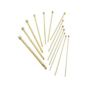 """12"""" Tunisian Afghan StitchBerry® Brand Bamboo Crochet Hook 12 PCs Collection - C/2 (2.75mm) - N/P 15 (10mm)"""