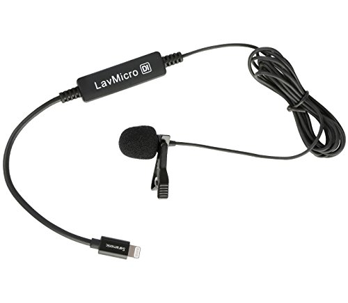 Saramonic LavMicro-Di Broadcast-Quality Lavalier Omnidirectional Microphone with Apple MFi Certified Lightning Connector for iPhone, iPad, iPod, iOS Smartphones & Tablets by Saramonic