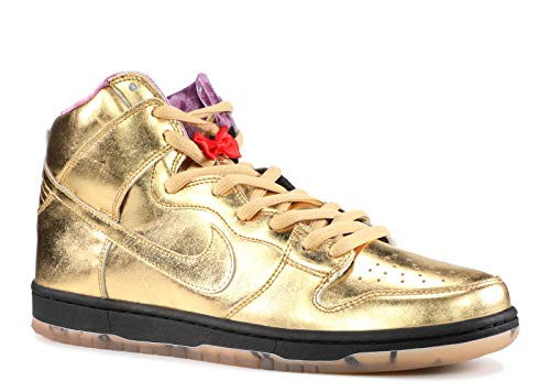 NIKE Men's SB Dunk High QS, Metallic Gold/Metallic Gold