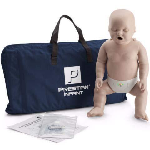 Prestan Infant CPR-AED Manikin with Rate Monitor, Medium Skin (Medium Skin, 1)