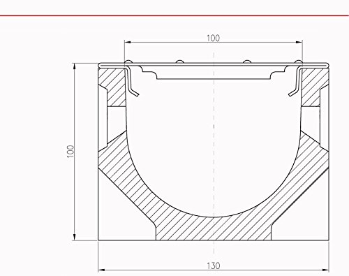 ACO Stegrost 10325 Stahl verzinkt 1m Sanierungsrost Ersatzrost Rinne Entw/ässerungsrinne