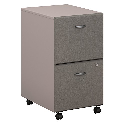 Pewter Filing File Cabinet (Bush Business Furniture Series A 2 Drawer Mobile File Cabinet in Pewter and White Spectrum)