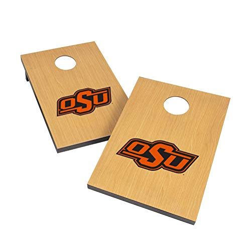 (Victory Tailgate NCAA 2x3 Travel Cornhole Set - 2 Boards, 8 Bags - Oklahoma State Cowboys)