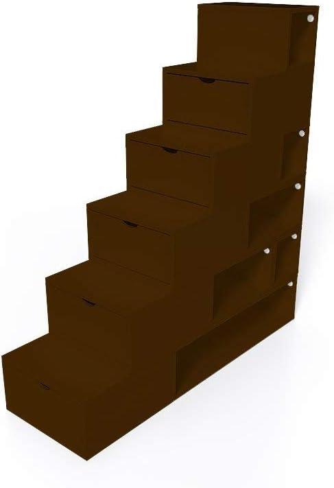 ABC MEUBLES - Escalera Cubo para Guardar Cosas 150 cm - ESC150 - Wengué: Amazon.es: Hogar
