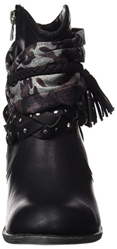 MTNG Originals (MTNGB) Damen 61353 Kurzschaft Stiefel Schwarz (RUSTICO NEGRO / KENIA NEGRO / SUEDI NEGRO)