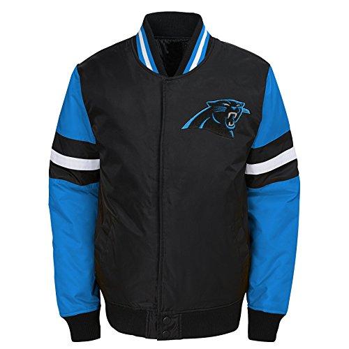 - NFL Carolina Panthers Youth Boys Legendary Color Blocked Varsity Jacket Black, Youth Large(14-16)