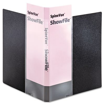 Cardinalamp;reg; SpineVue ShowFile Display Book with Wrap Pocket, 24 Letter-Size Sleeves, Black