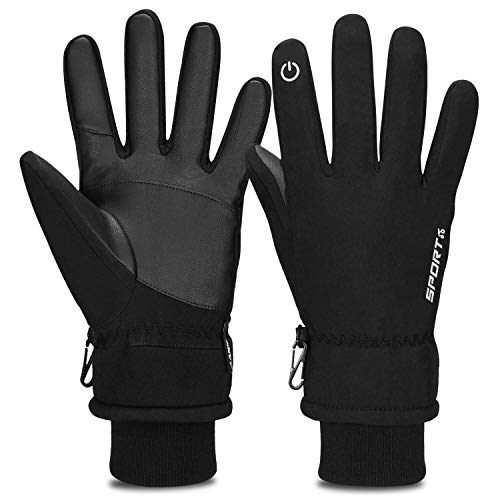 Cevapro -30℉ Winter Gloves Touchscreen Gloves Thermal Gloves for Running (Best Thin Winter Gloves)