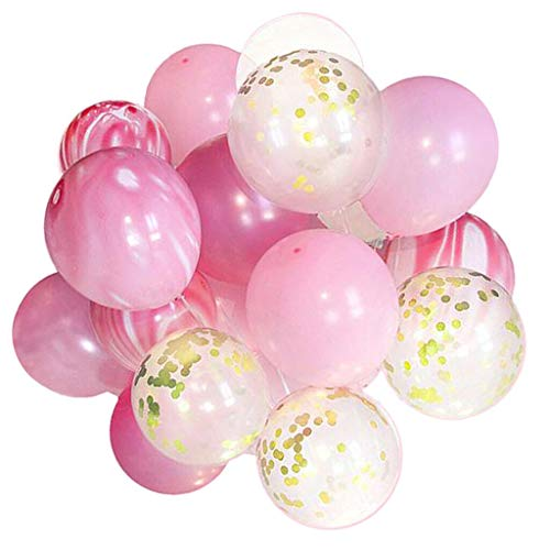 Confetti Balloons, 12'' Golden Paper Confetti Dots Filled Latex Balloons DIY Set for Party, Wedding, Birthday Decoration - 48 Pcs]()