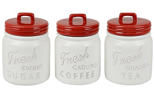 Set of 3 Vintage Kitchen Fresh Coffee Tea Sugar - Shopping Gigi Goes