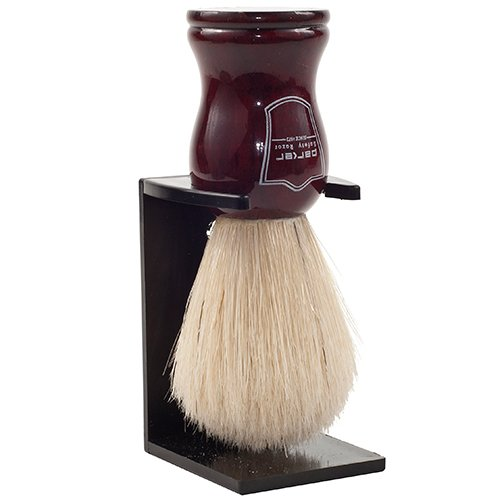 (Parker Safety Razor Deluxe 100% Boar Bristle Shaving Brush with Rosewood Handle -- Brush Stand)