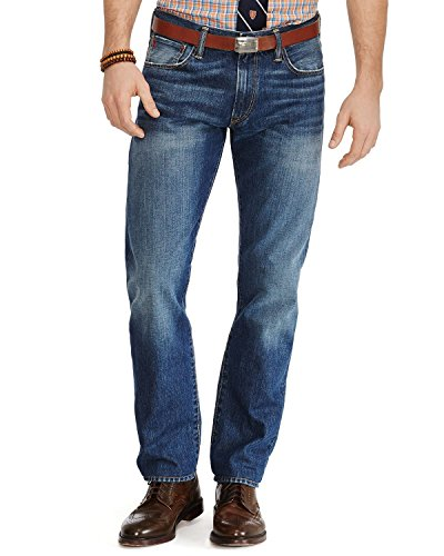 Polo Ralph Lauren Men's Big & Tall Hampton Straight Fit Jeans (50B x 32, Cedar Wash)