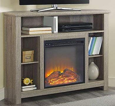 Amazoncom Tv Stand With Fireplace Space Heaters For Indoor Use