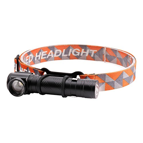 (New WindFire Multi-functional CREE XM-L T6 LED Headlamp 18650 USB Rechargeable Compact Flashlight Adjustable Focus Right Angle Flashlight with Pocket Clip Magnetic Tailcap for Working Hunting Camping)