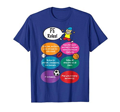 P.E. Rules Physical Education Teacher PE T-Shirt ()