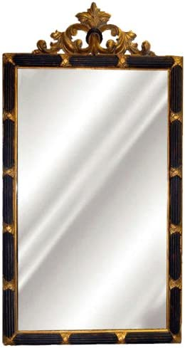 Hickory Manor House HM8254RC Dunbar Mirror Black Gold