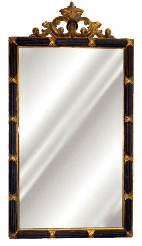 Hickory Manor House Dunbar Mirror with Pecan Shell Resin, - Mirror Black Gold