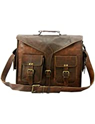 B & H Genuine Leather Messenger Bag 15 Laptop Bag Leather Satchel Briefcase Bag ABB.
