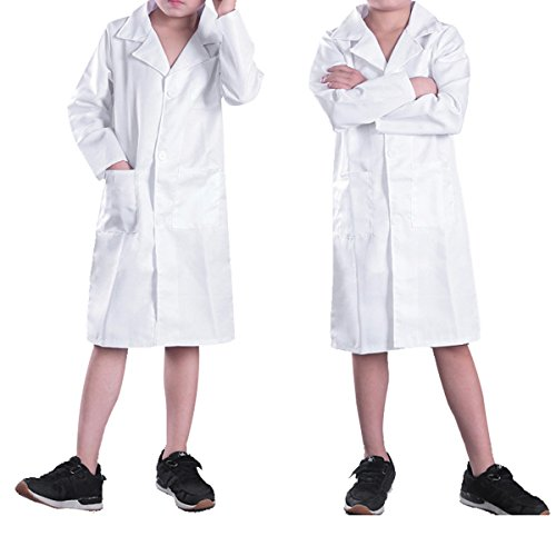 CHICTRY Kids Boys Girls White Lab Coat Fancy Party Doctor Uniform Child Cosplay Costume White (Halloween Paintings For Toddlers)