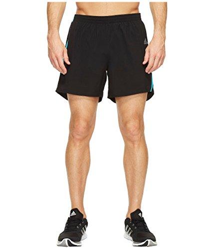 adidas Men's Running Response Shorts, Black/Energy Blue, Small - 9 Inch Shorts Running