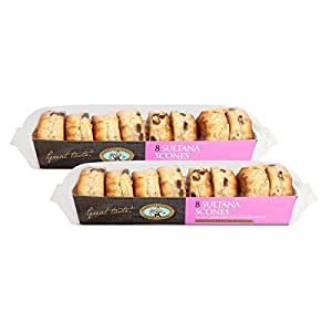 Freshly Baked English Sultana Scones - pack of 16
