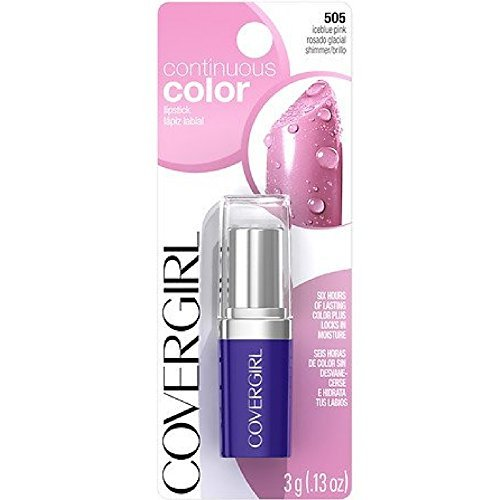 (CoverGirl Continuous Color Lipstick, Iceblue Pink 505 0.13 oz (3 g))