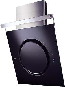 Elica Om Touch Screen BL/F/80 - Campana (Recirculación, 750 m³/h, 67 Db, Montado en pared, Negro, Sensor)