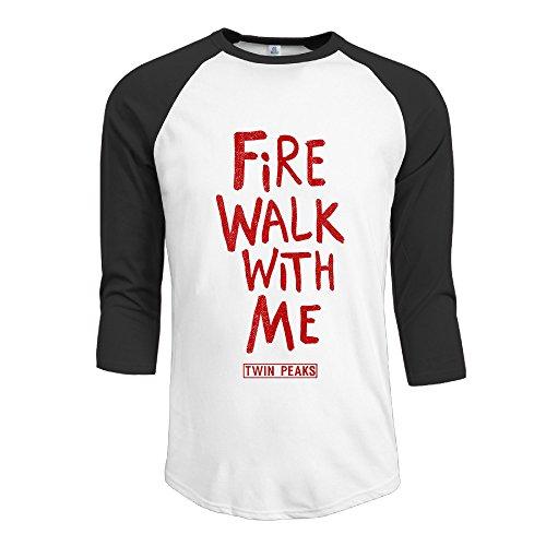 YFF Men's Cool Fire Walk With Me 3/4-Sleeve Raglan Tshirt