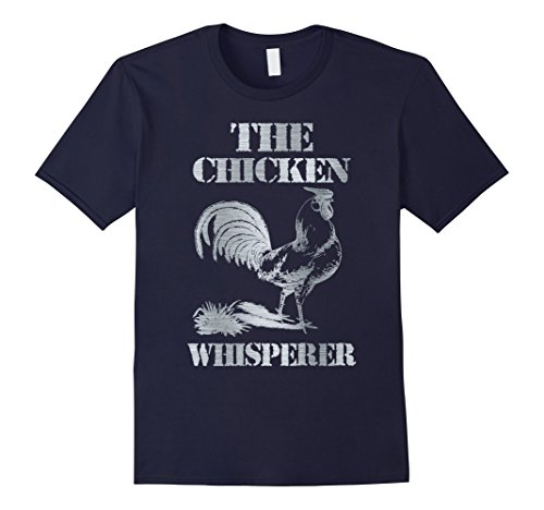 Mens THE CHICKEN WHISPERER T Shirt Silver Farm T-Shirt Gift Idea XL Navy (Fleet Farm)