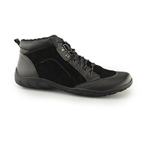 Black Riverside Walking Ladies Earth Spirit Shoes Lace Suede Black up g177qH